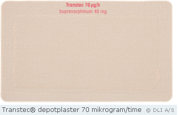 Transtec® depotplaster 70 mikrogram/time